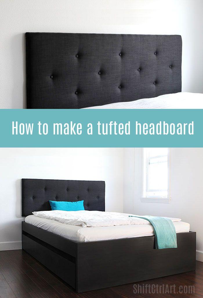 How to make a tufted headboard | Camas, Cabeceros y Recamara
