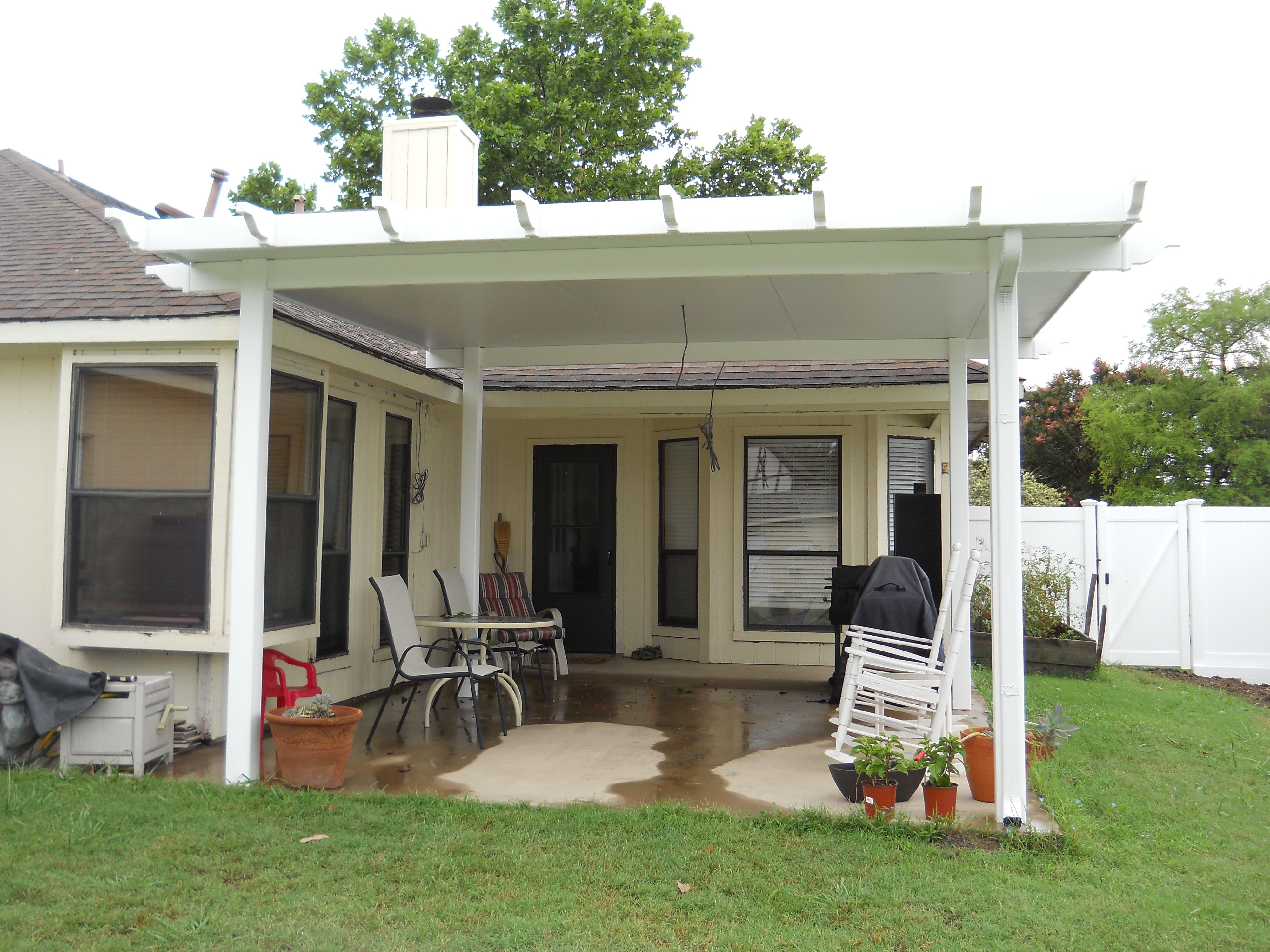 ... Patio Covers Using Vinyl Posts, Rails And Beams. It Makes A Sturdy  Structure That Will Not Dent Or Scratch. Call Future Outdoors For A Free  Estimate.