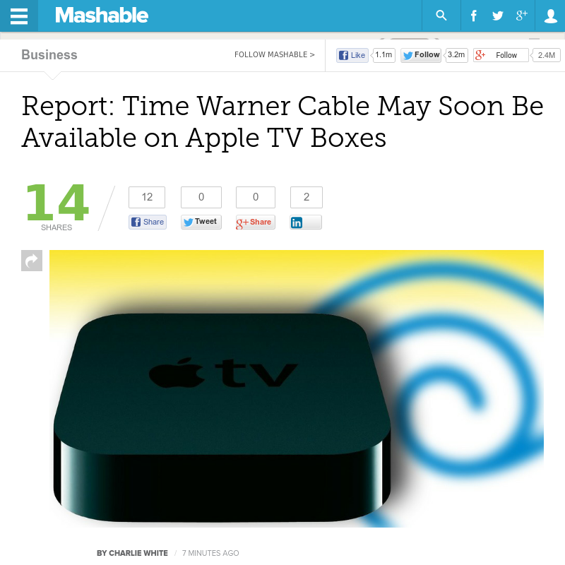 http://mashable.com/2013/07/03/apple-time-warner-cable/ ...   #Indiegogo #fundraising http://igg.me/at/tn5/