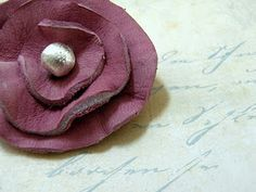 leather flower diy