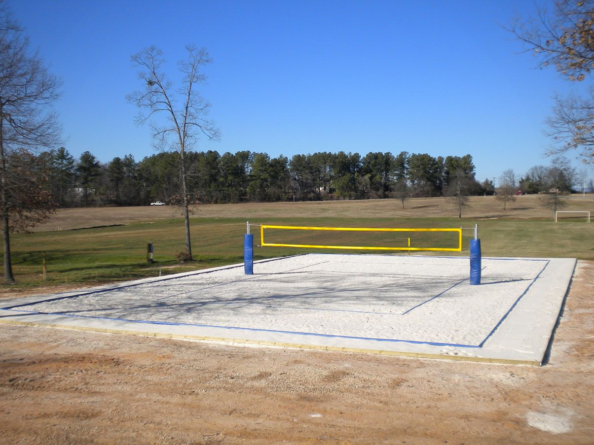 How To Construct A College Level Sand Volleyball Court Sand Volleyball Court Volleyball Court