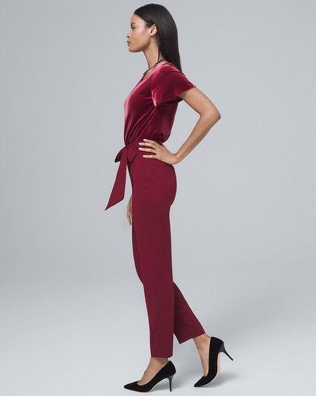 83a319935bd3 Women s Velvet-Bodice Jumpsuit by White House Black Market in 2018 ...