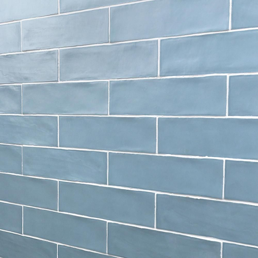 Ivy Hill Tile Strait Blue 3 In X 12 In 8 Mm Polished Ceramic Subway Wall Tile 22 Piece 5 38 Sq Ft Box Ext3rd100755 Ceramic Subway Tile Subway Tile Glass Tile Crafts