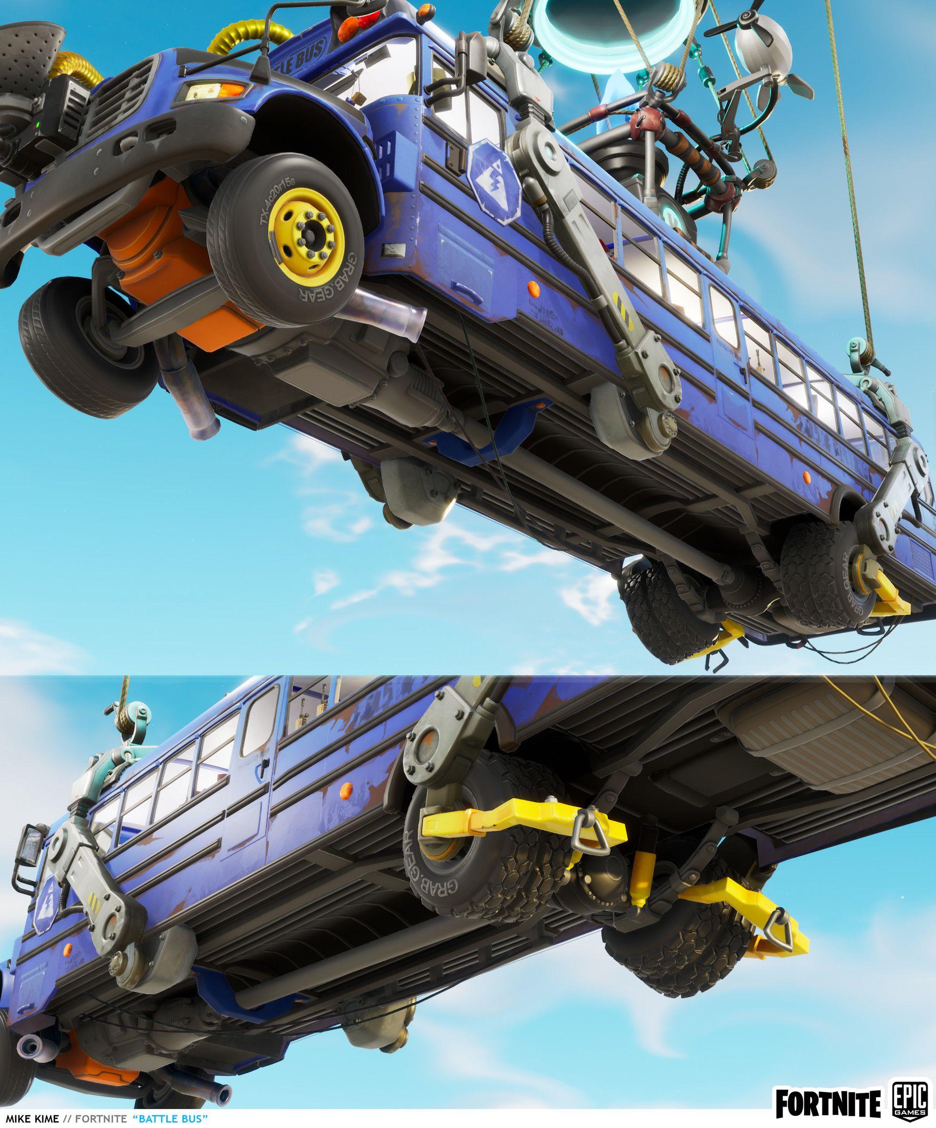 Artstation Fortnite Battle Bus Mike Kime Bus Fortnite Diy