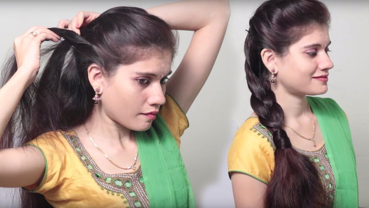 front puff hairstyle step by step | quick & simple easy