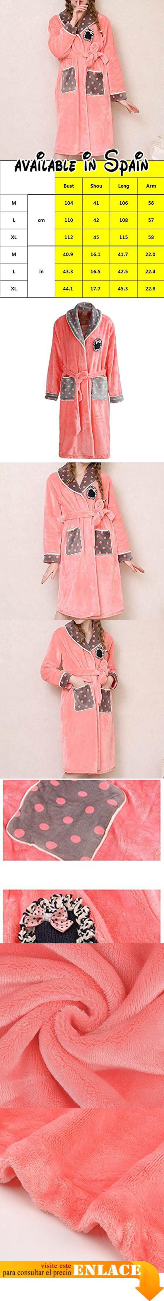 B075LNQ2QD : POKWAI Pijamas De Invierno De Las Mujeres Más Gruesos ...
