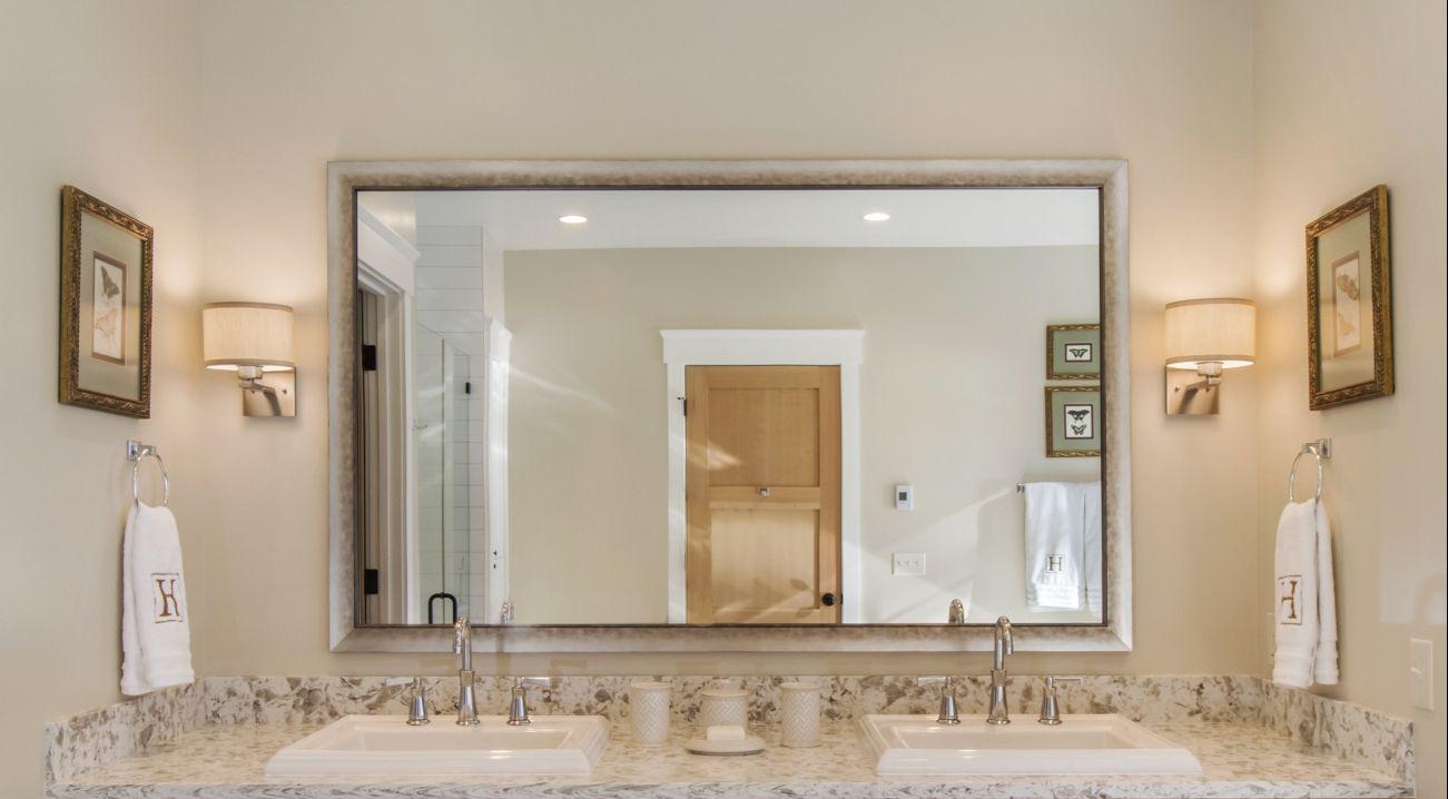 Large Single Mirror Over Double Vanity In Master Bath Friday Harbor Wa Bathrooms Remodel Home Mirror [ jpg ]