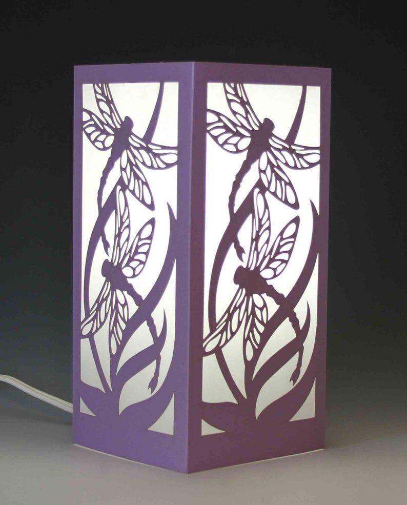 Dragonfly centerpiece luminary table lamp night light