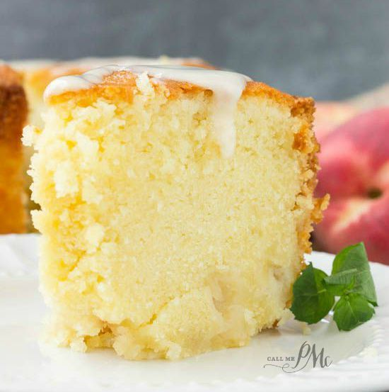 Two Step Fresh Peach Pound Cake Recipe (Call Me PMc) #peachcobblerpoundcake