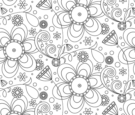 Colorful Fabrics Digitally Printed By Spoonflower Black And White Wallpaper White Wallpaper Wallpaper Black And White Wallpaper