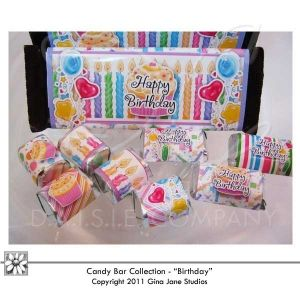 Hershey Printable Happy Birthday Candy Bar Covers, Wrappers - Gift ...