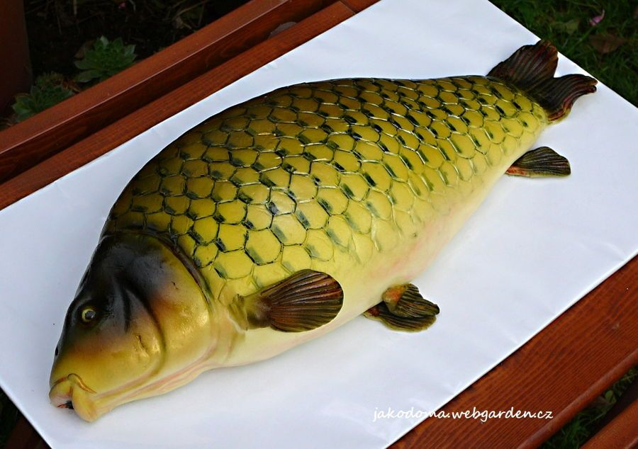 Fish Carp Its A 50th Birthday Present For The Fisher Cake