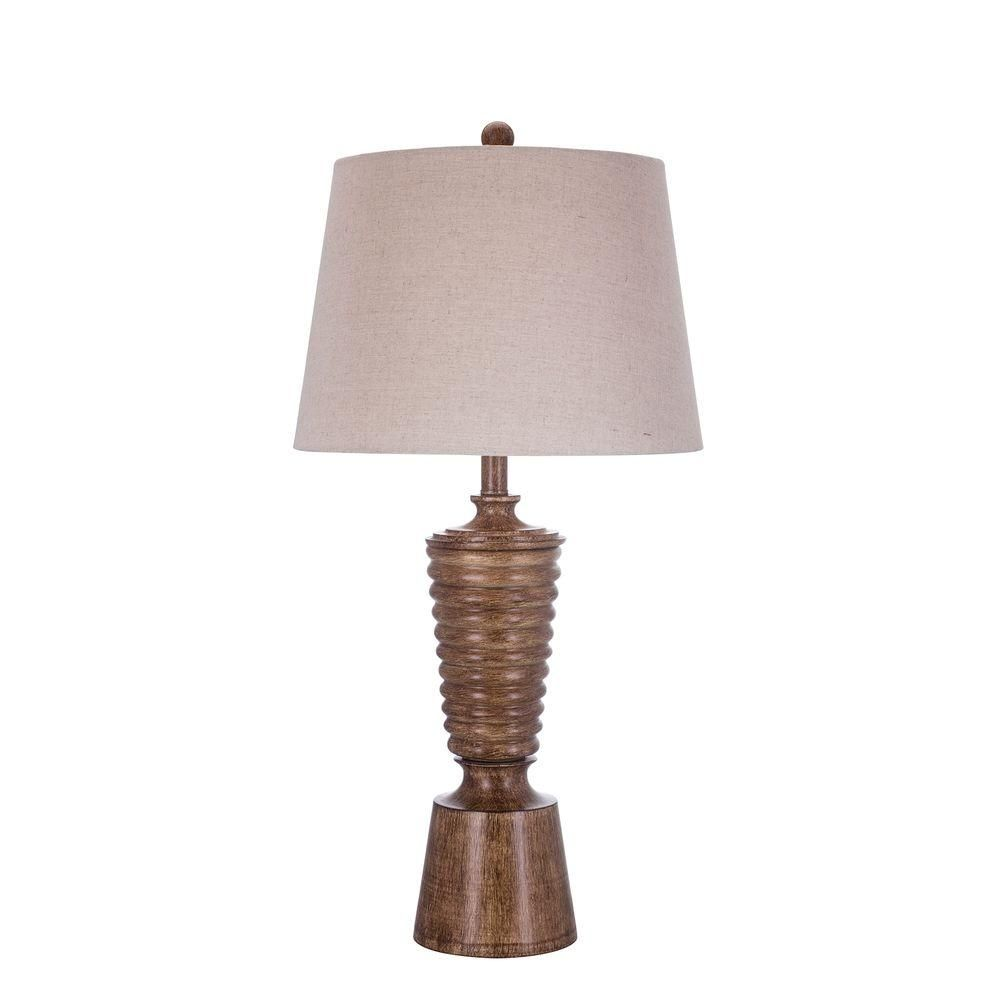 Table Lamps At Home Depot Gorgeous Fangio Lighting 305 Inbrown Resin Table Lamp  Brown Home And Tables Inspiration