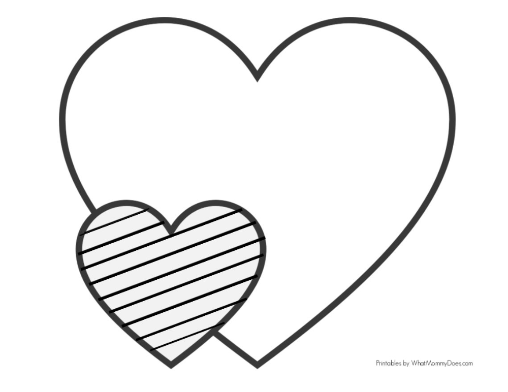 Easy Heart Coloring Pages For Kids Stripe Patterns Heart Coloring Pages Valentines Day Coloring Page Coloring Pages For Kids