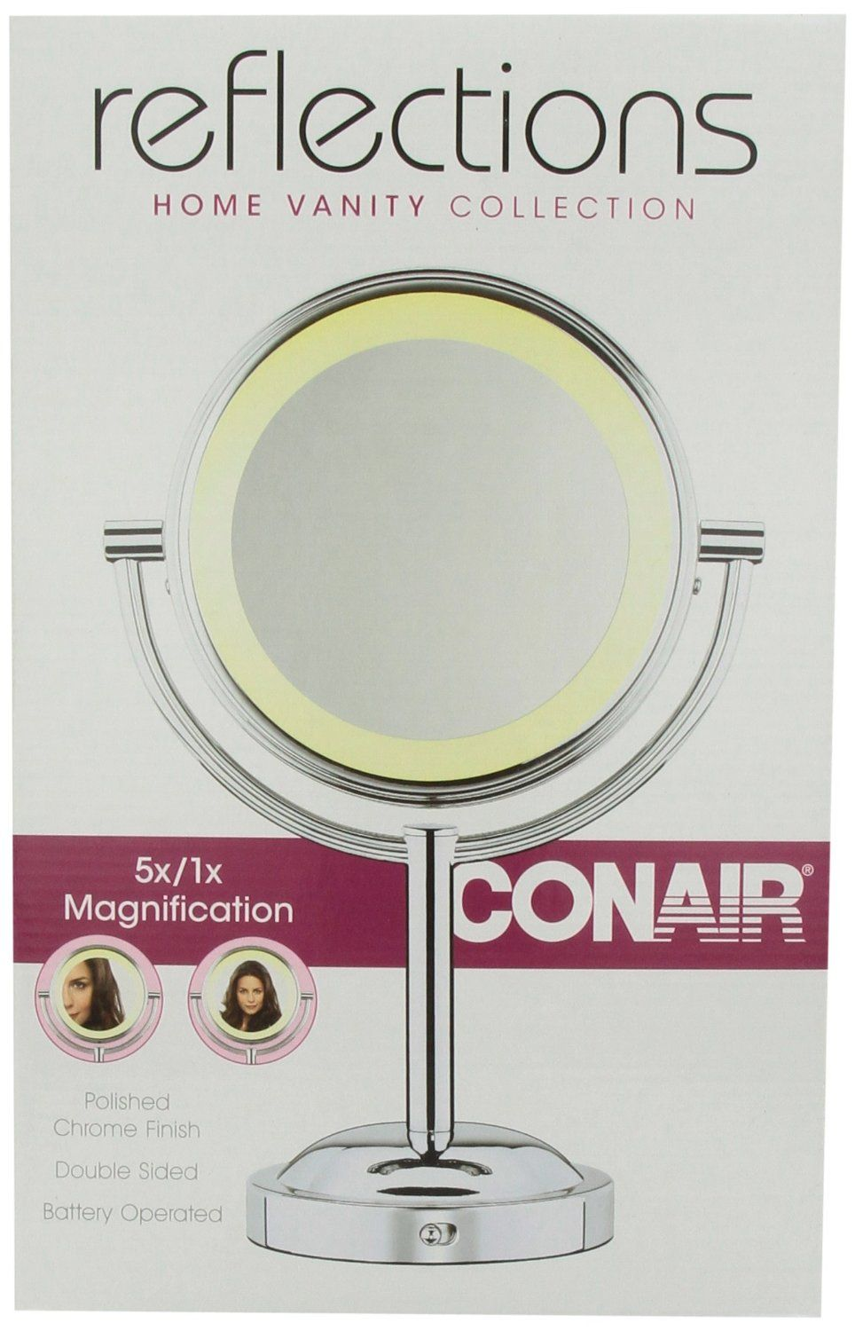 Amazon Com Conair Be4nw Classique Double Sided Lighted Makeup Mirror With 5x Magnification Beauty Makeup Mirror With Lights Makeup Mirror Led Makeup Mirror
