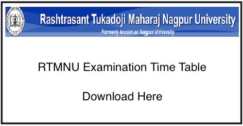 RTMNU Timetable Winter 2018-19, Students download Nagpur