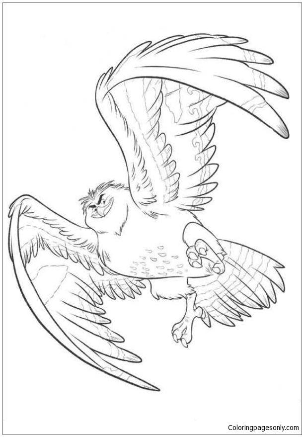 Maui Becomes A Bird Coloring Page Moana Coloring Pages Moana Coloring Moana Coloring Sheets