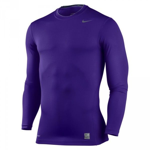 purple skin tight long sleeve shirt  7c97cbc7232b
