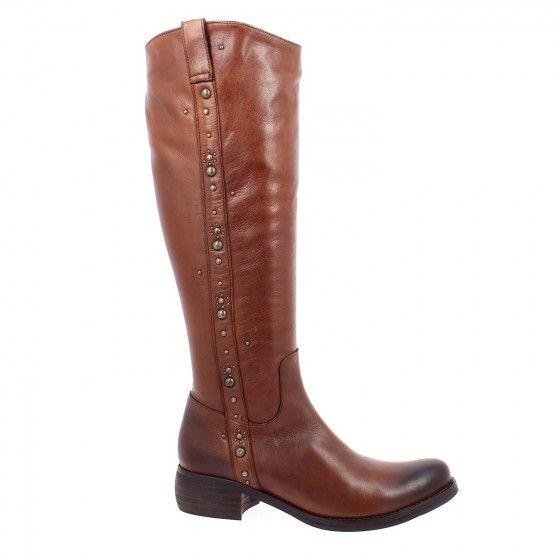 Bottes femme REGARD marron cuir Va04a6w