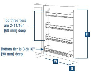 Lovely These Wire Door Mounted Spice Racks By Knape U0026 Vogt Are Offered In 3 Widths  To Fit Just About Any Cabinet Door. The Spice Racks Have 4 Shelves In Fixed  ...