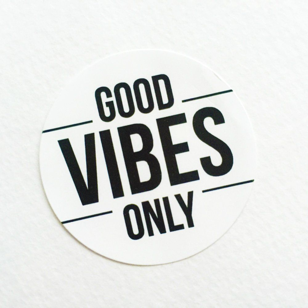Good Vibes Only Stickers | Perfect for Wedding Favors. Comes in ...
