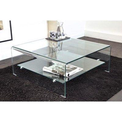 51ddfad28a68d0 Table basse carrée en verre courbé 80x80 cm Vera - Salon   Salle à manger à  bon prix – MonCornerDECO 184€98