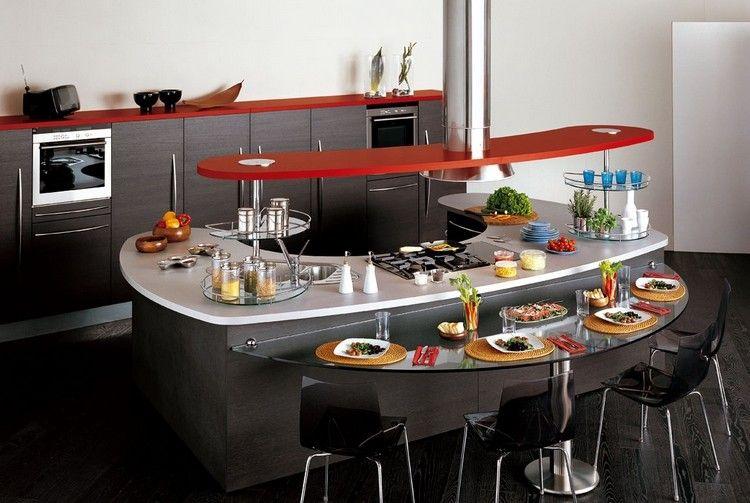 Îlot de cuisine au design revisité selon les tendances