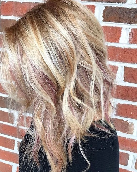 rose gold blonde hair