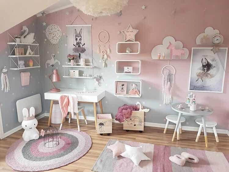 Hermosas Ideas De Decoracion De Cuartos De Juegos Infantiles Habitaciones Infantiles Modernas Habitaciones Infantiles Decoracion Dormitorio Nina