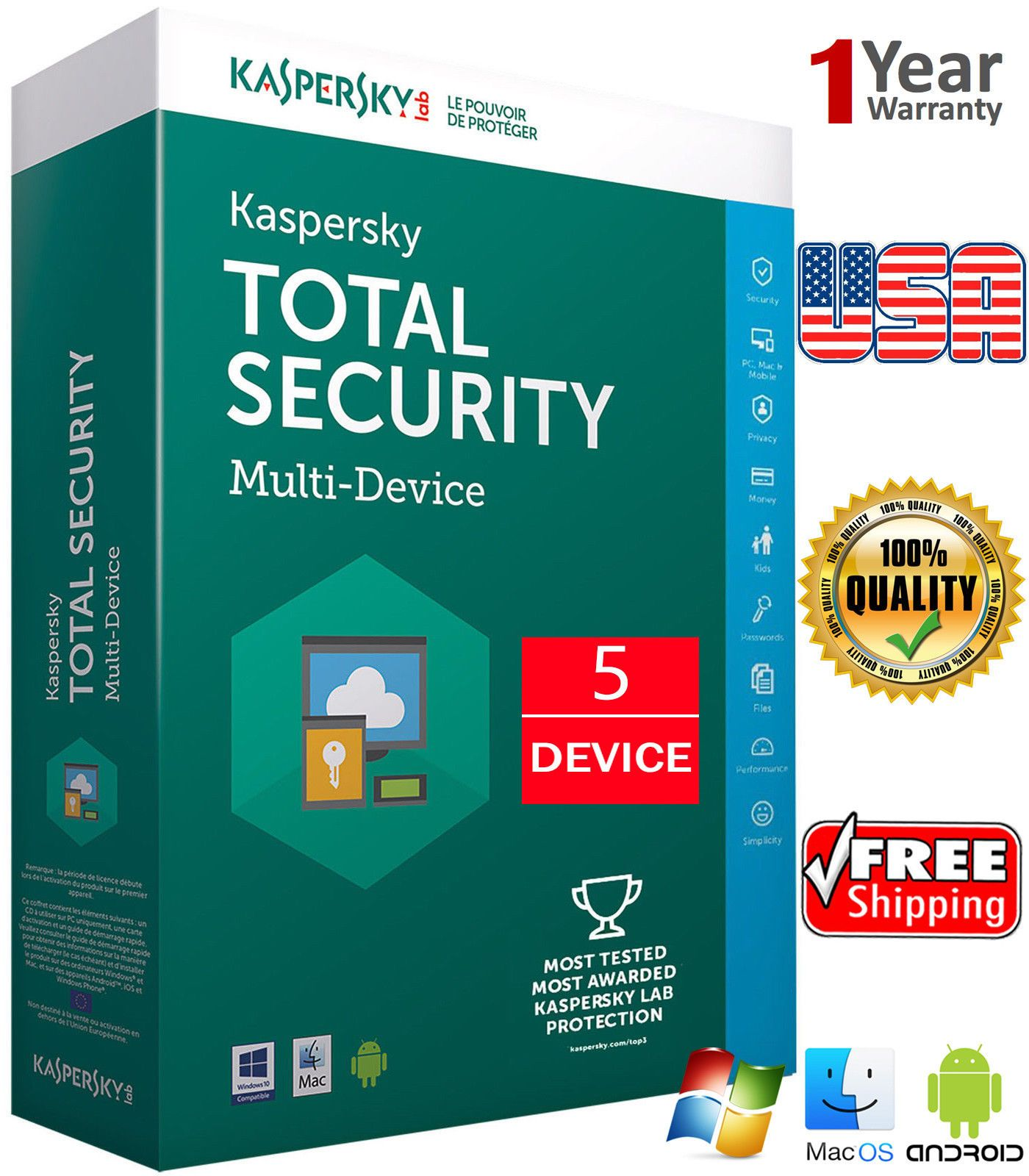Antivirus and Security 175689: Kaspersky Total Security 2019