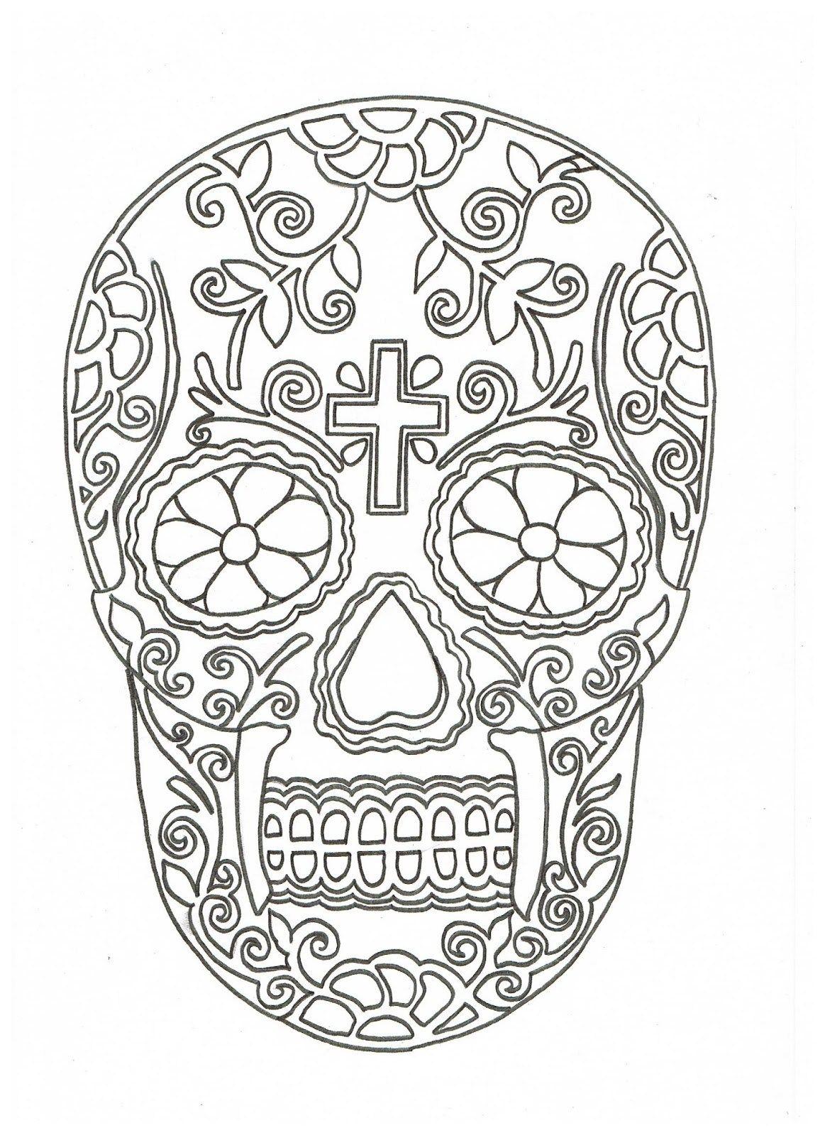 Plantilla Calavera | Día ✿ De ✿ Muer+os | Pinterest