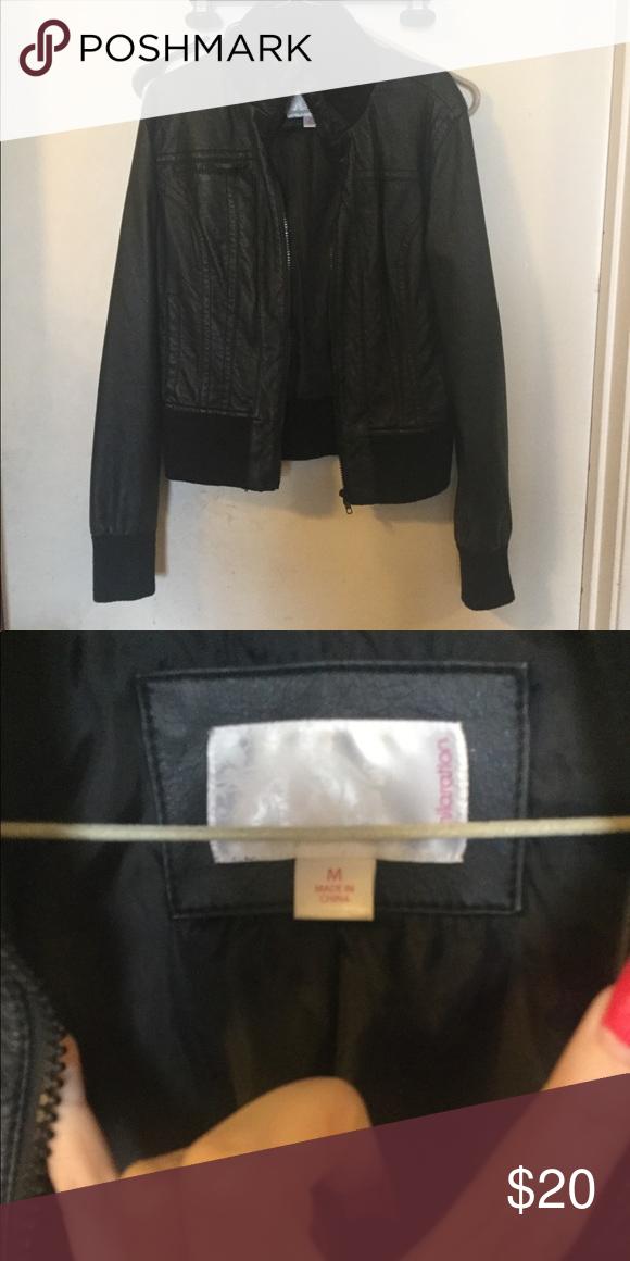 57e21485c5a Xhilaration faux leather jacket Size medium no holes or stains will be  cleaned before shipping. Xhilaration Jackets   Coats
