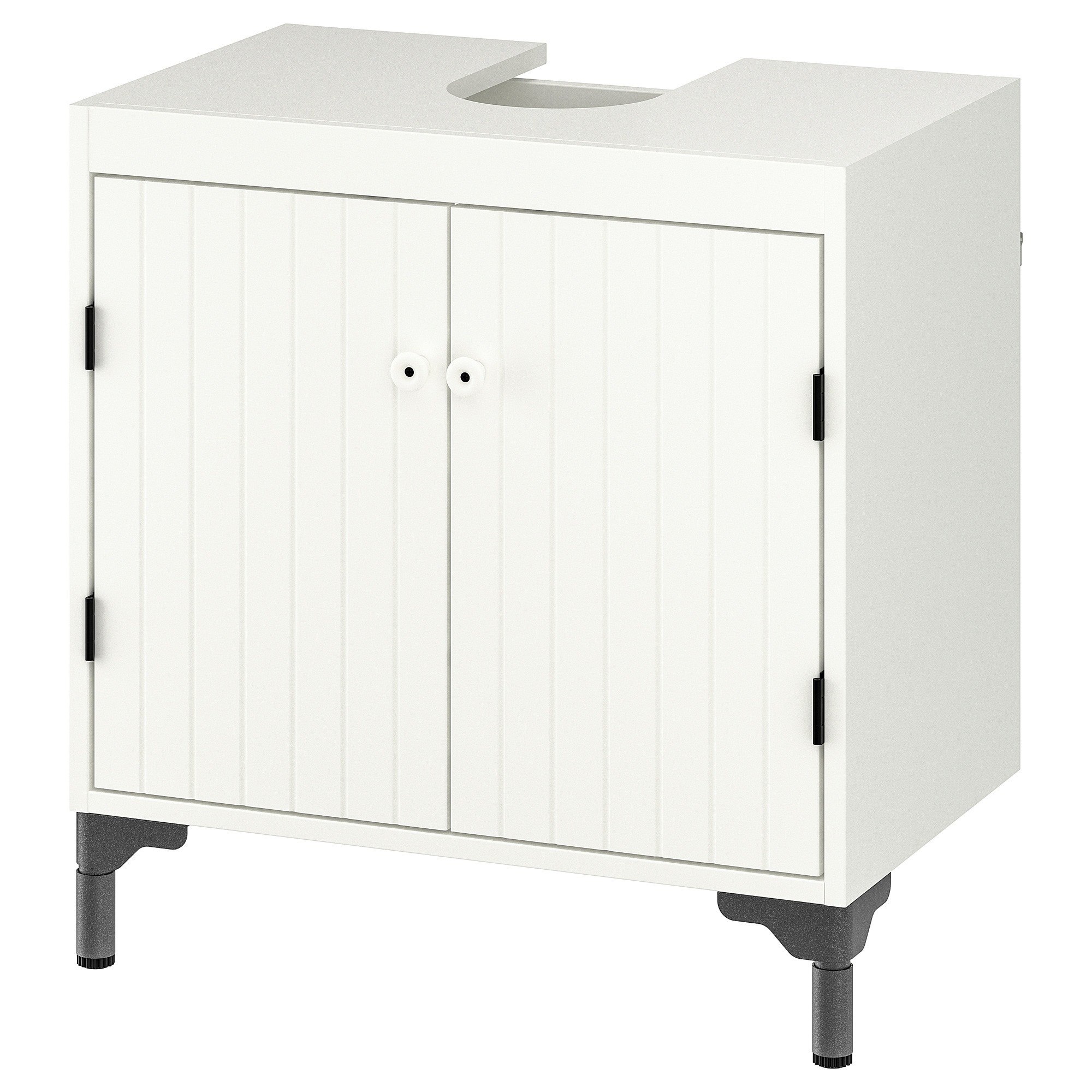 Silveran Waschbeckenunterschrank 2 Turen Weiss Ikea