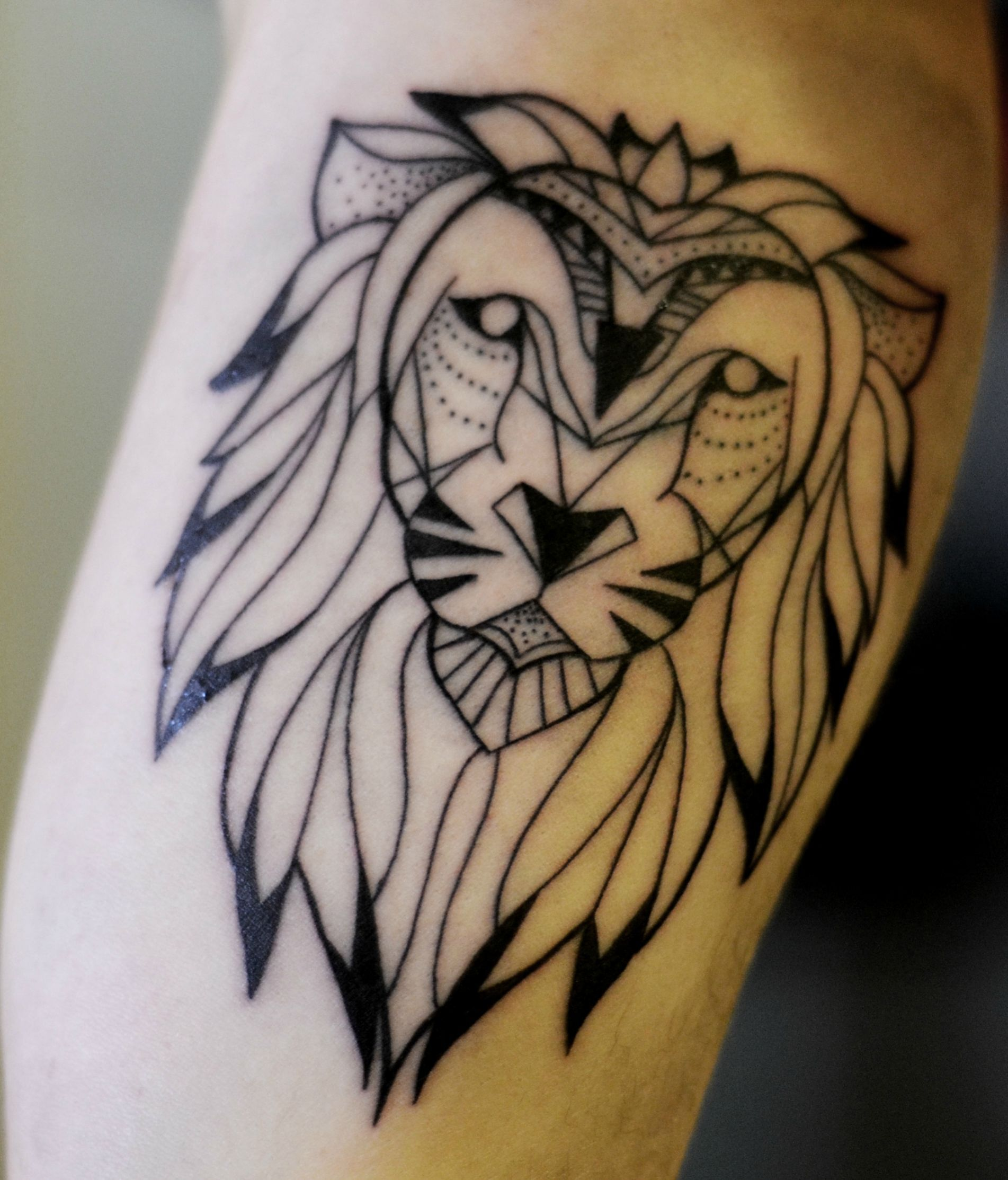 Best 25+ Geometric Lion Tattoo Ideas On Pinterest