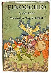 Pinocchio C. Collodi Dust Jacket ca. 1950