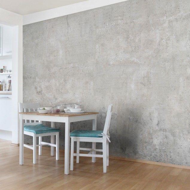 Vliesbehang Shabby Beton Vanaf Wohnen Wallpaper Room Und Wall
