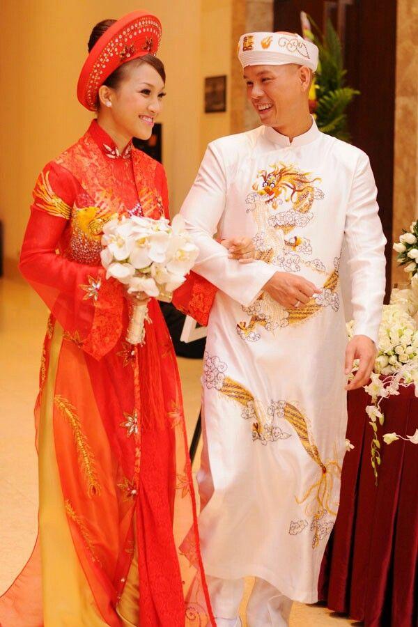 Áo dài cưới | Đám cưới Vietnamese Wedding | Pinterest | Ao dai