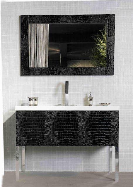 Luxury Bathroom Vanity Units luxury bath vanity with crocodile. | bathroom | pinterest
