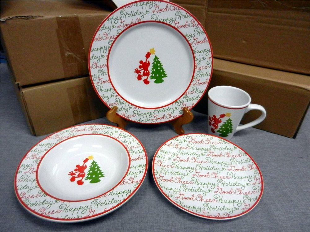 China \u0026 Dinnerware | eBay. Mickey Mouse ChristmasDisney ... & Disney Mickey Mouse Christmas Holiday Dishes Set - So cute I would ...