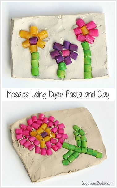 Pasta Mosaic Art Project for Kids - Buggy and Buddy
