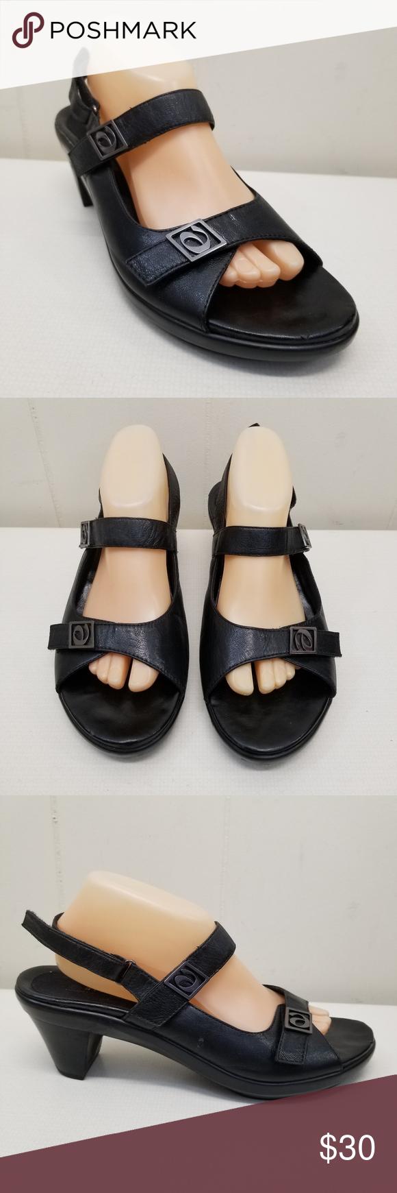 Balance Black Sandals 11B Leather