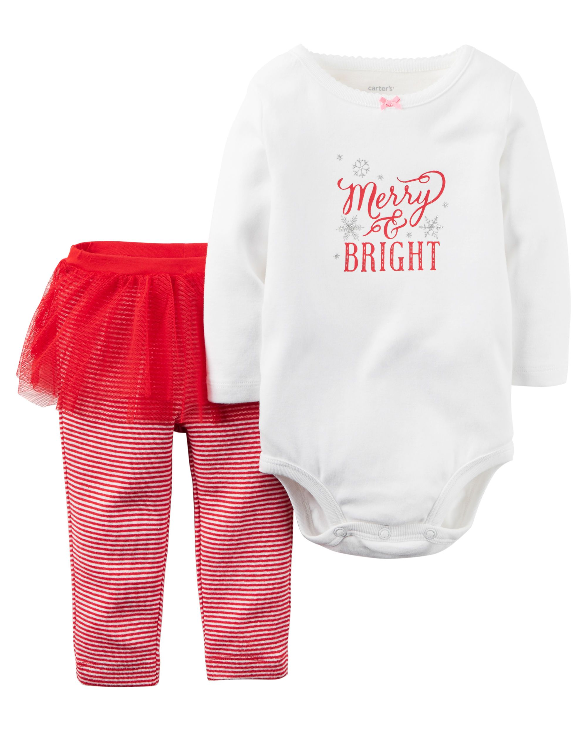 6bc384672 A cozy bodysuit pairs perfectly with tutu cute striped leggings for ...