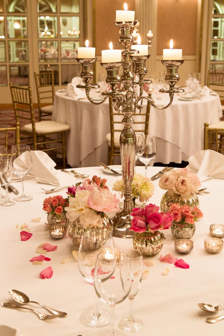 Candelabra centerpiece totes bril because someday my for Wedding reception centrepieces
