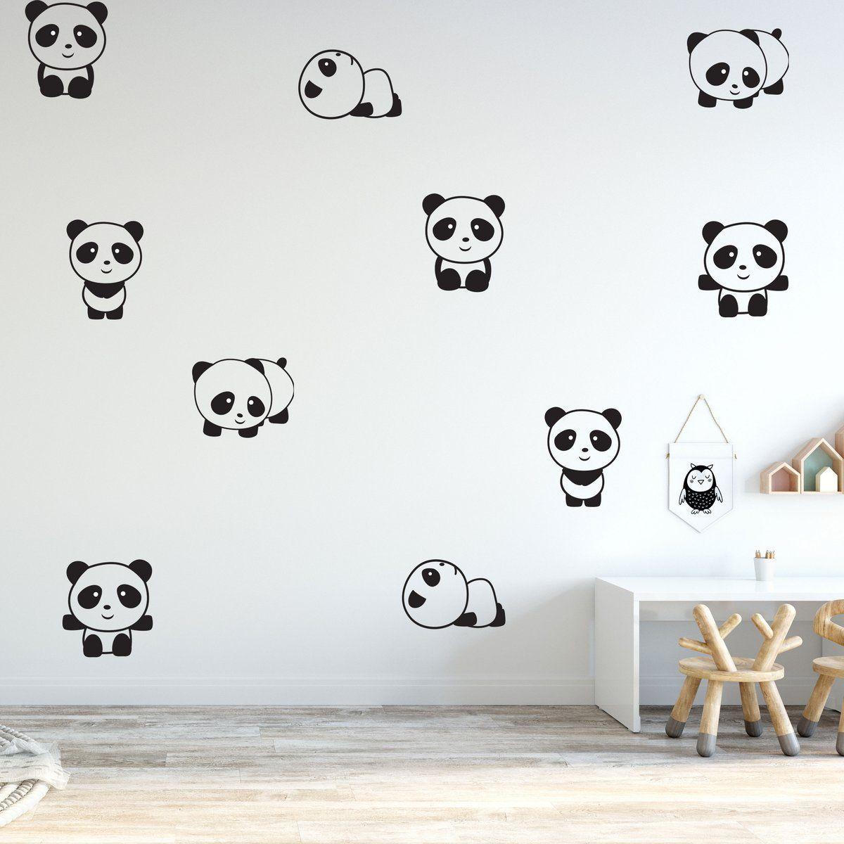 Wall Sticker Room Decal Panda Bear Sleeping Zzz Nursery Bed Kids Children bo2531