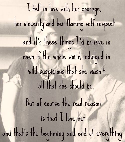 F Scott Fitzgerald  Written In A Letter To A Friend About His