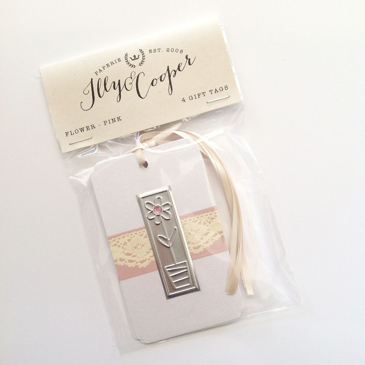 craftsandcards.com - Flower Tag - Pink, R28.00 (http://www.craftsandcards.com/flower-tag-pink/)