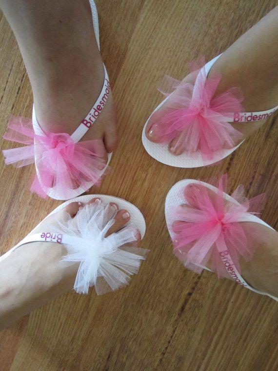 Custom WEDDING Flip Flops BRIDESMAID By BrooklynsBowsNToes 2000
