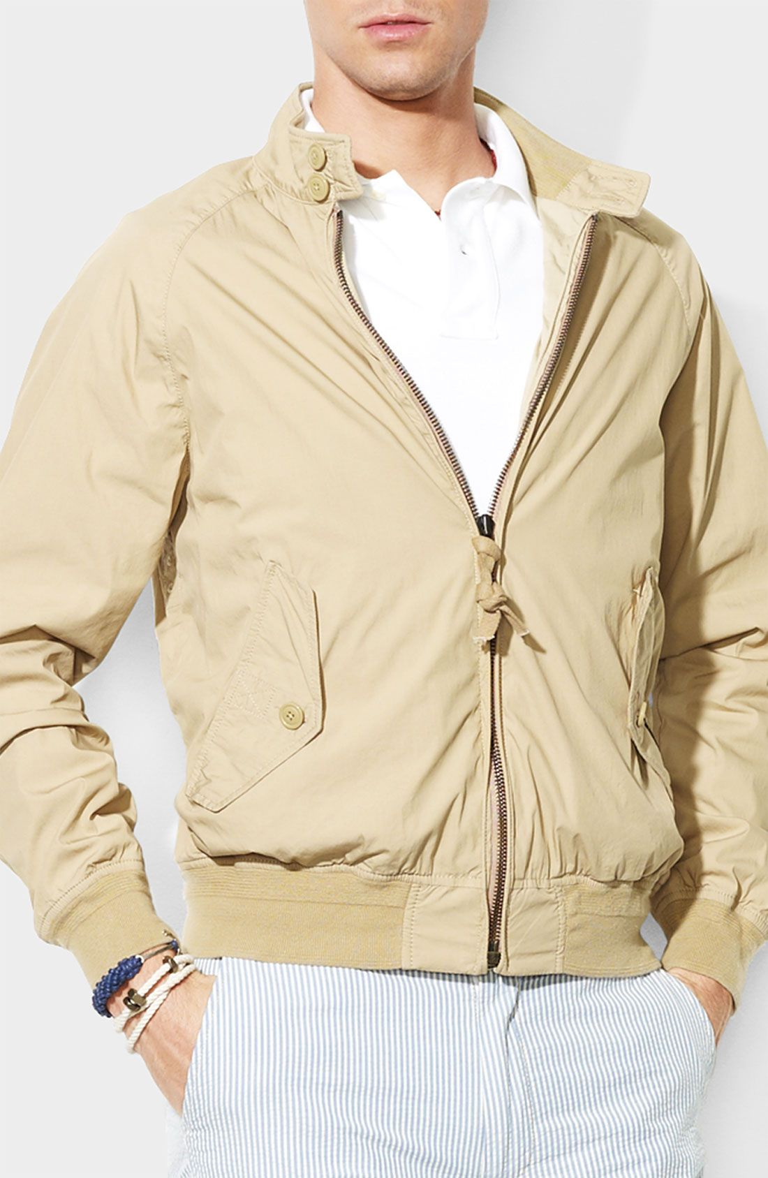 polo ralph lauren harrington jacket in beige {49 PLN