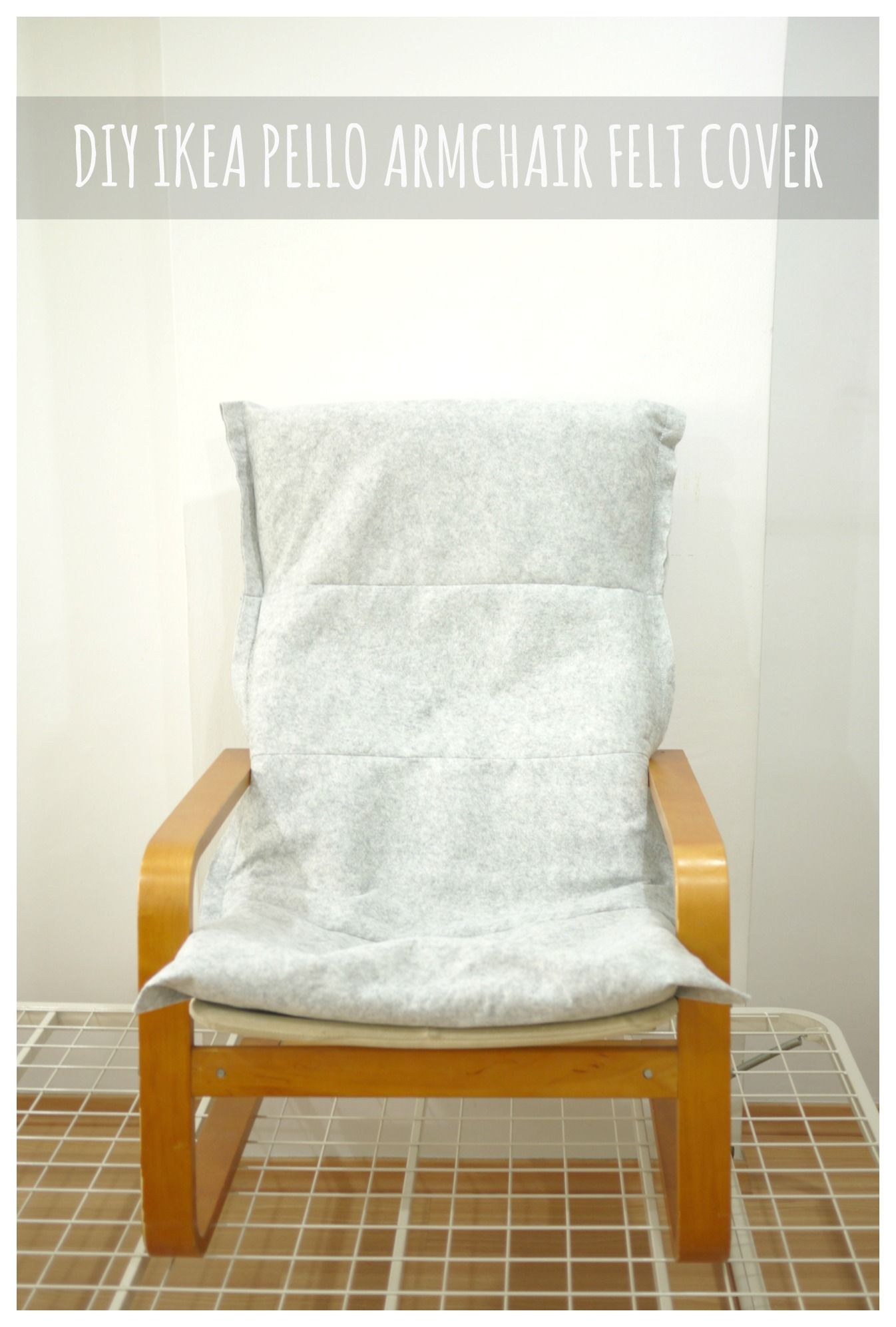 Make Diy Ikea Pello Poang Chair Felt Cover Di 2020