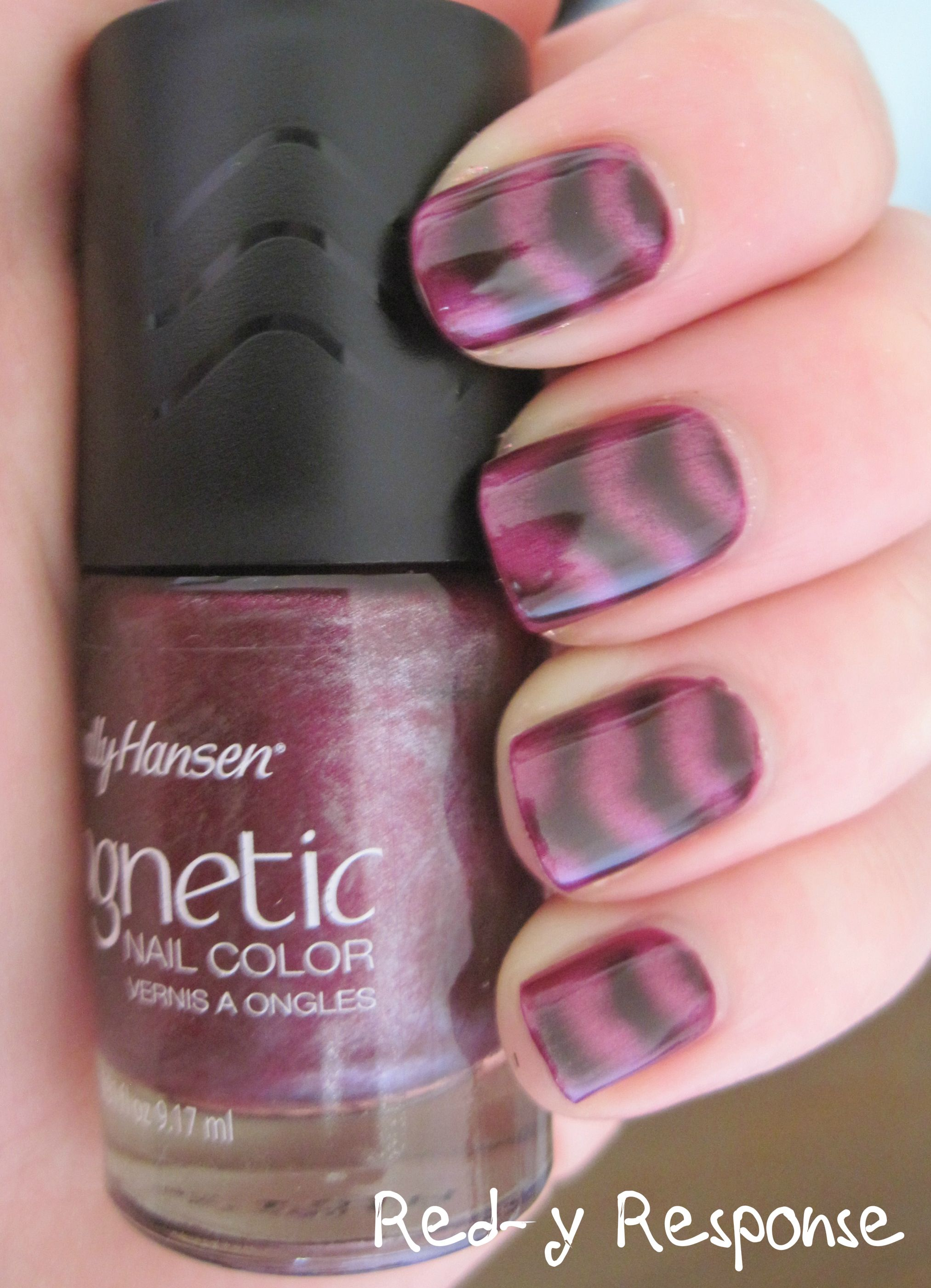 Sally Hansen Magnetic 905 Red Y Response With Images Nail